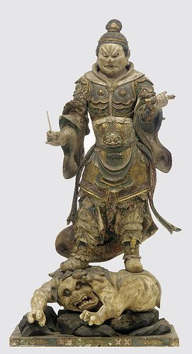 Japan - 1185-1333 (Kamakura Period) Komoku-ten Guardian of the west (wood)