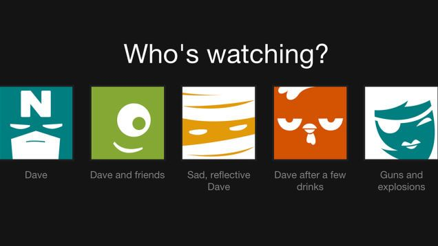 Set up multiple Netflix user profiles for all of your moods