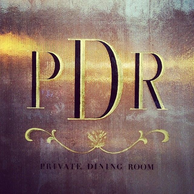 Drama In A Logo By Fourteen Forty For PDR Private Dining Room Brooklyn