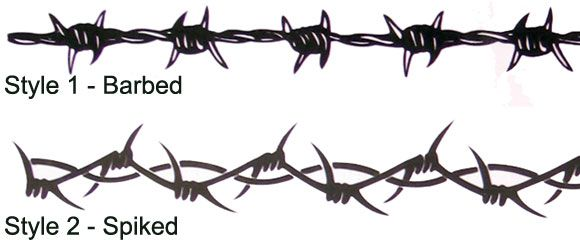 body panting celebrity: barbed wire tattoo designs