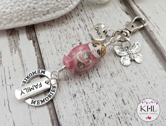 Cousin Gift Family Gift Idea Russian Doll by KHLHandmadeJewellery