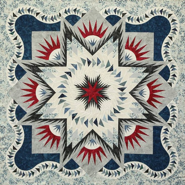 Glacier Star, Quiltworx.com, Made by CI Sandra Kollath