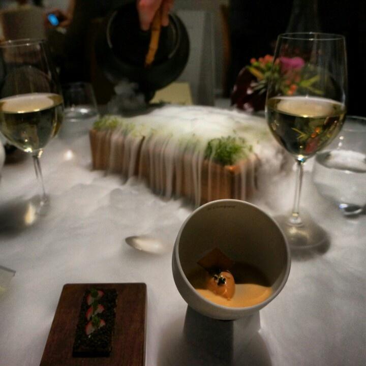 The Fat duck round II. Jelly of Quail, crayfish cream