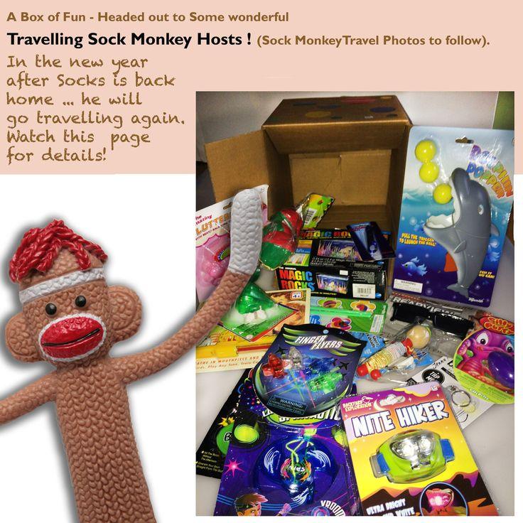 Sock Monkey still on the Road! | Party Fun Box