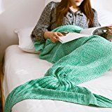 #3: Mermaid Blankets Holidayli Handmade Knitted Mermaid Tail Blankets for Adults Women Girls All Season Party Birthday Gifts