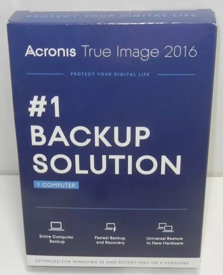 New Acronis True Image 2016 Backup Sealed 1 Computer PC or Mac