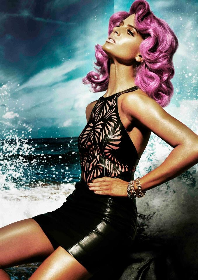 Splash Collection by Joey Scandizzo 2013. Love this fuschia hair!