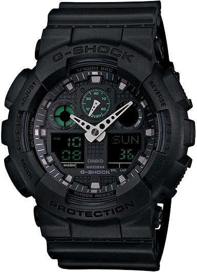 Casio G-Shock Analog Digital Black Military Watch GA100MB-1A