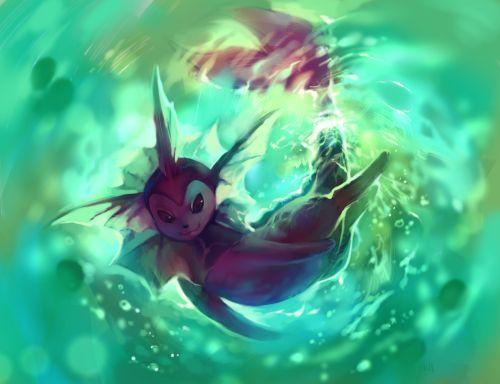 fantastic-pokemon-art:  Shiny Vaporeon by purplekecleon