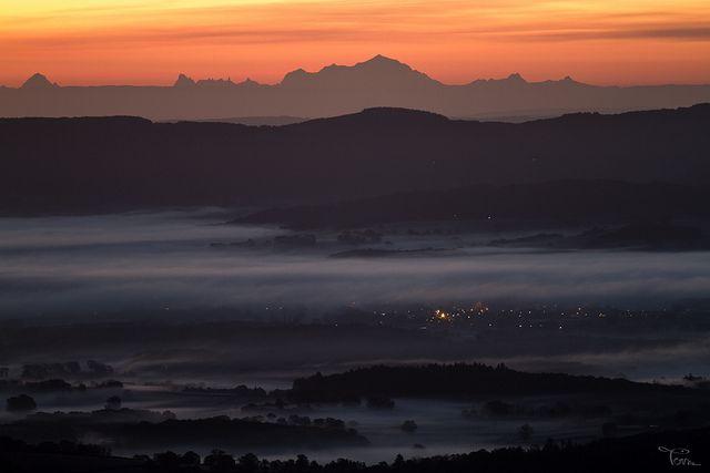 Bibracte : vue depuis le Mont Beuvray