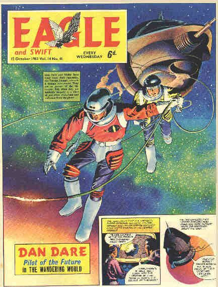 The Eagle comic, featuring Dan Dare, Pilot of the Future. (1950s and 60s).