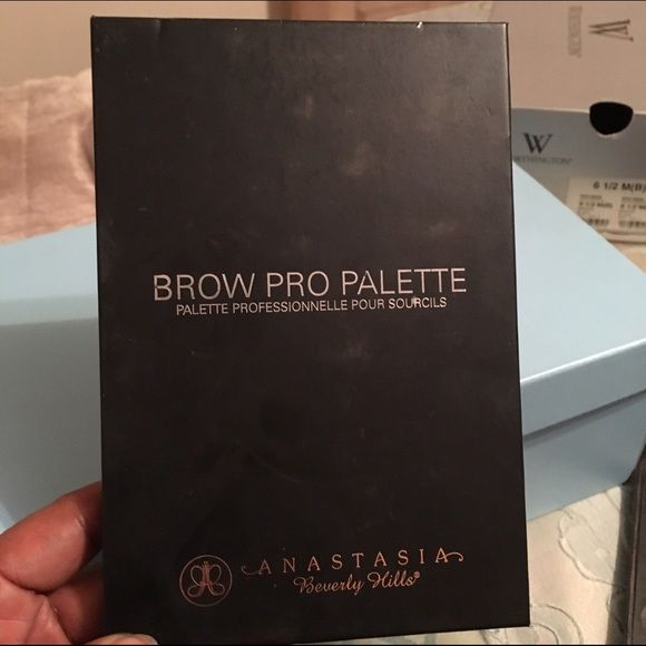 Anastasia Brow Pro kit! Anastasia Brow Pro Palette kit! Anastasia is known for bringing brows into style by styling brows of celebrities.. This kit cost $100 used a few times no longer doing makeup artistry. Anastasia Makeup
