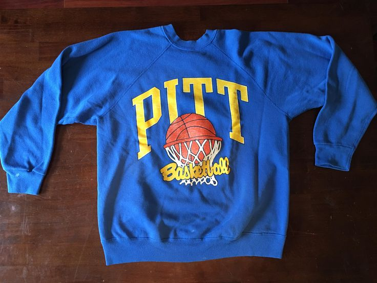 Vintage Pitt Basketball Tultex Sweatshirt,Vintage Sports Clothing,University of Pittsburgh Basketball,Retro College Sweatshirt by BessyBellVintage on Etsy