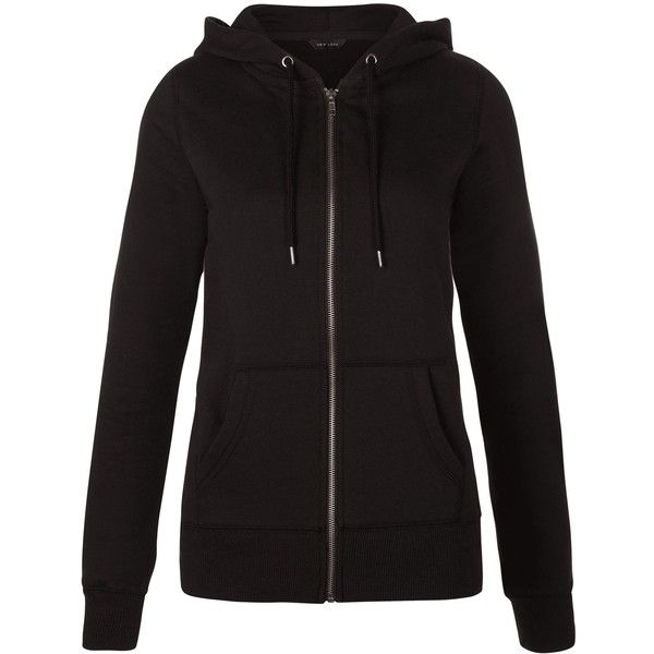 New Look Black Basic Zip Up Hoodie ($21) ❤ liked on Polyvore featuring tops, hoodies, black, zip up hoodies, long sleeve hooded sweatshirt, hooded pullover, hoodie top and hooded sweatshirt