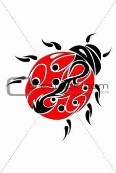 Tatouage: Coccinelle tribal tatoo_7