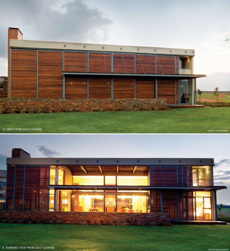 Thomas Gouws Architects - House Steyn Timber screens