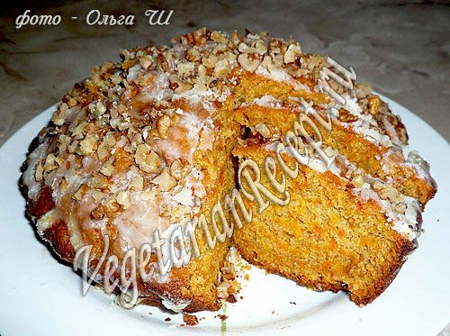 Морковный пирог без яиц рецепт с фото