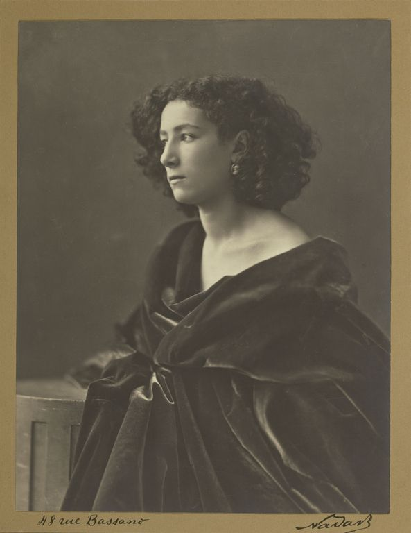 """[Sarah Bernhardt],"" Nadar [Gaspard Félix Tournachon],  Paul Nadar, negative about 1864; print about 1924?. The extraordinary actress Sarah Bernhardt was about twenty when she posed for Nadar and had barely begun her long and phenomenally successful career."