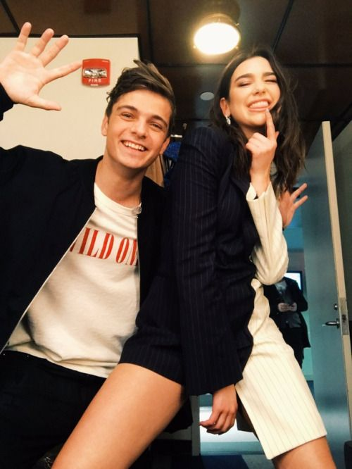 Dua Lipa and Martin Garrix backstage on Jimmy Fallon