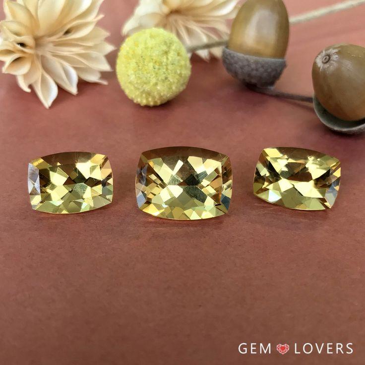 Комплект из трех золотых бериллов в огранке кушон 27.98 карат  Set of three golden beryl samples in total weight 27.98 ct ✒WA/Telegram/Direct/Viber 📲+7-925-390-20-52 📲+7-800-555-22-86 📧 publice@gemlovers.ru #goldenberyl #heliodors #gemlovers #yellowberyl #heliodorjewelry #jeweladdict #gemstones #гелиодор #драгоценныекамни #камни