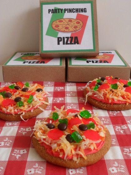 "Sugar cookie ""pizzas"" | Fun food ideas | Pinterest"
