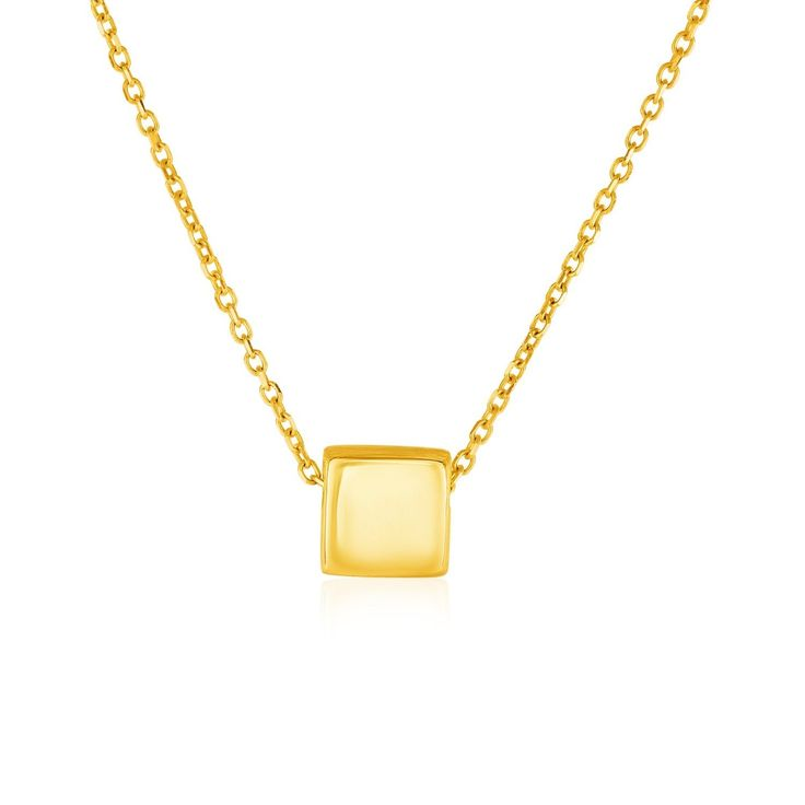 Necklaces This simple, geometric pendant features a shiny gold square pendant. Pendant is 18 inches long and closes with a lobster clasp. free shipping