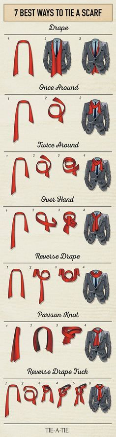 http://www.siamtrick.com How to Tie a Scarf in Menswear - The 7 Best Ways to Tie a Men's Scarf