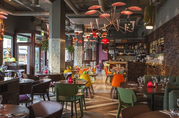 Las Iguanas Restaurant, Kingston upon Thames, Herringbone Wood Flooring