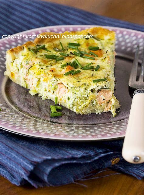 Tarta z łososiem i cukinią | kornik w kuchni
