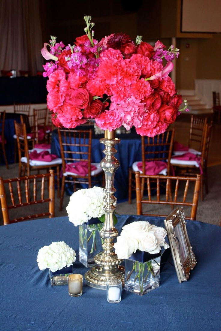 Navy Blue And Pink Weddings
