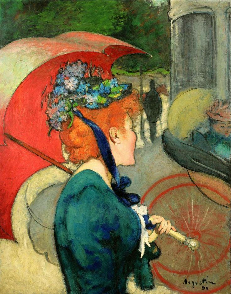 Louis Anquetin (French, 1861–1932) - La Femme à l'Ombrelle, 1891