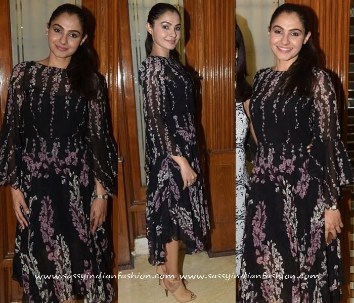 Andrea at Wink Salon Launch, Celebrities in Asymmetric Gowns, Printed Asymmetric…