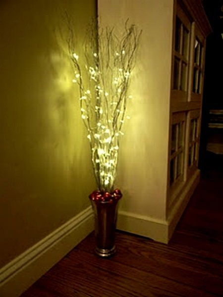 356 best images about trees twigs branches on pinterest - Indoor string light decoration ideas ...