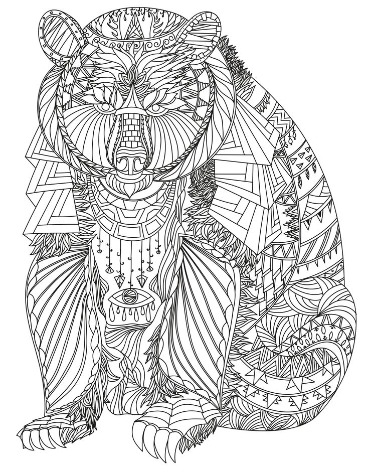 whimsical bear coloring pages - photo#11