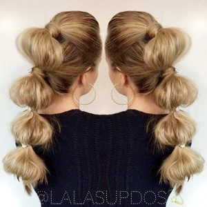 Formal Bubble Ponytail Hairstyle
