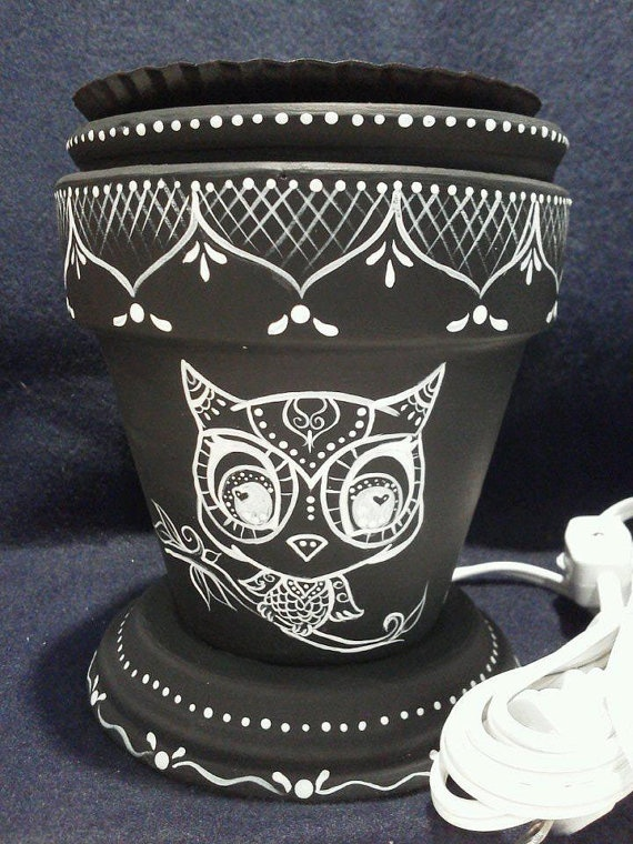 Handmade and Handpainted Electric Tart Warmer by rachelsink, $35.00