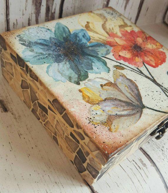 Caja de madera carrito té baratija recuerdo gitf por iLoveCreations