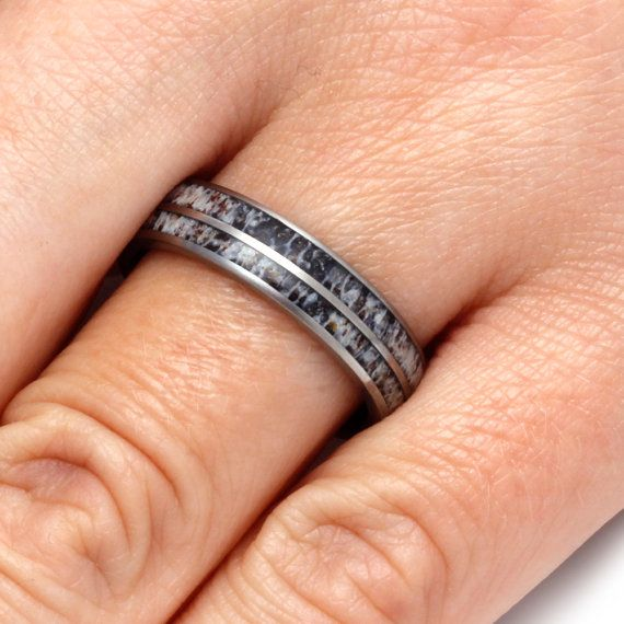 Natural Deer Antler Wedding Band For Men or by jewelrybyjohan