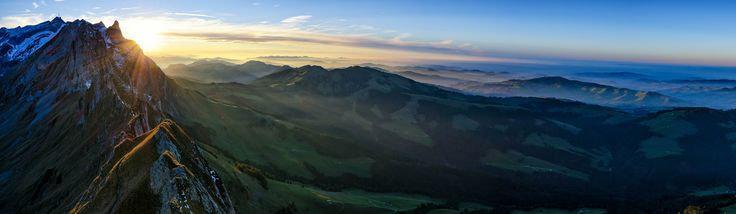https://flic.kr/p/B6HWTS | The sun goes down | At this day, i was hiking at the beautiful alpstein region in appenzell, switzerland.  View from Mount Schäfler 1924m  Thx for stopping by!