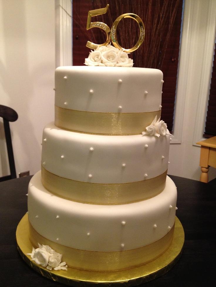 Best 25 Golden Anniversary Cake Ideas On Pinterest