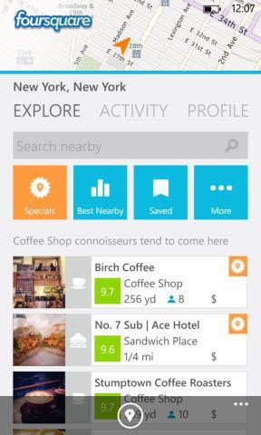 Foursquare for Windows Phone - Mobile Doctors.co