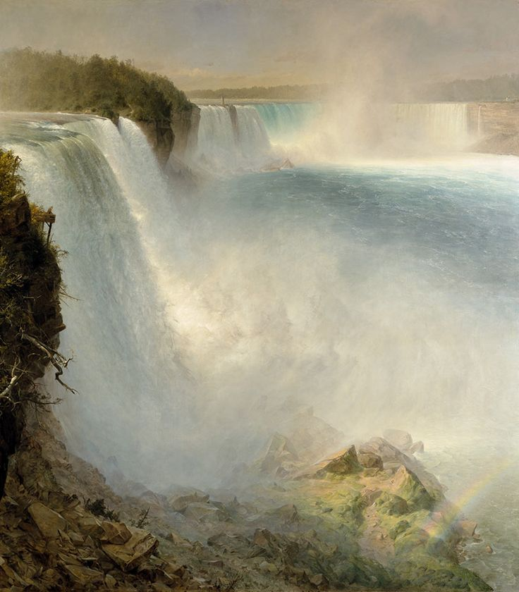Church 1867 Niagara Falls, from the American side  oil on canvas