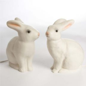 Heico bunny rabbit lamp and night light for kids