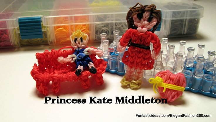 Mother's Day Gift idea:Rainbow Loom Princess Kate Middleton(Mother) Figure tutorial by Elegant Fashion 360.