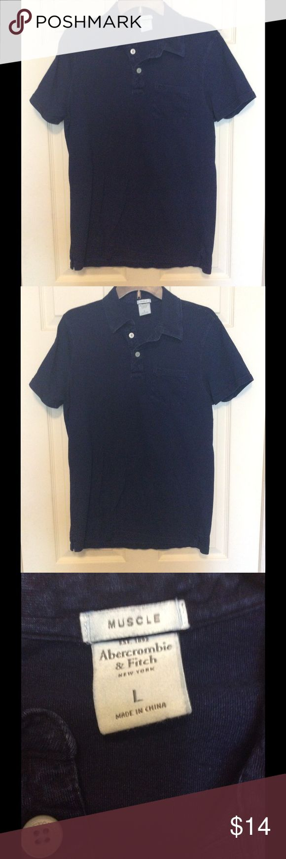Abercrombie Men's Casual Shirt Abercrombie men's casual short sleeve shirt. Size is large.  This shirt is in very good condition.  Color is dark blue.  Bundle to save on shipping. Abercrombie & Fitch Shirts Polos
