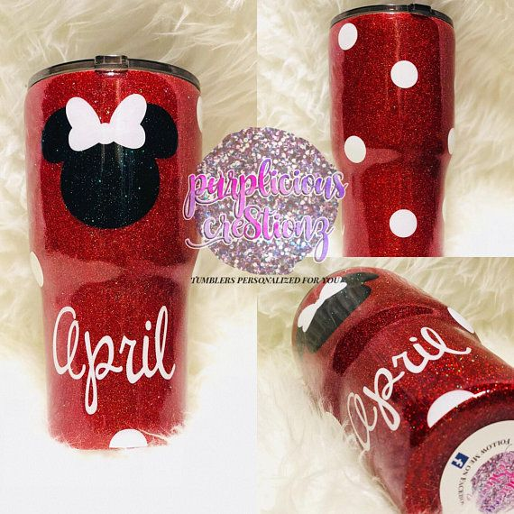 Minnie Mickey Mouse Disney Inspired Glitter Personalized