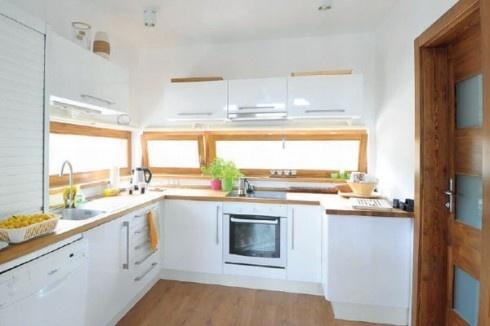 White kitchen wooden benchtop kitchen ideas pinterest for Kitchen benchtop ideas
