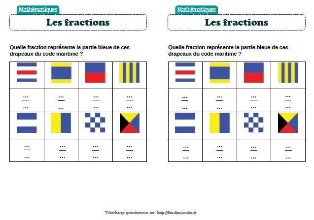Fractions : activités autour des drapeaux - CM1-CM2 ...