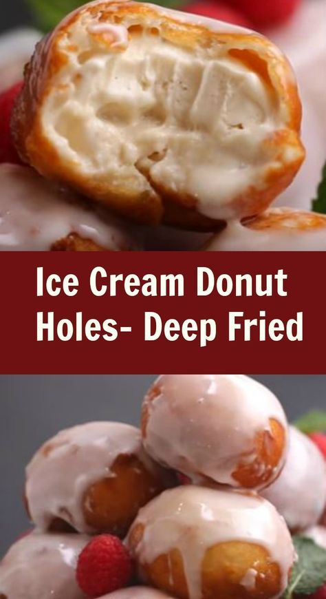 So you feel like something sweet but you can't make up your mind…ice cream is great but maybe you really want a dougnut. Let's make Deep Fried Ice Cream Donut Holes.