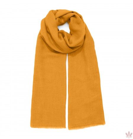 Super Soft Orange Scarf Wool, Cashmere, Rayon & Modal Blend. Luxury high quality, made in Italy by Fulards free shipping.